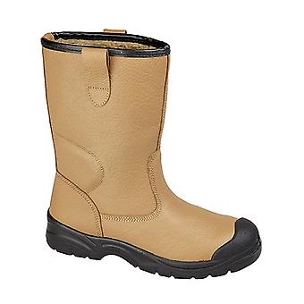 Grafters Mens Scuff Toe Cap Safety Leather Rigger Boots