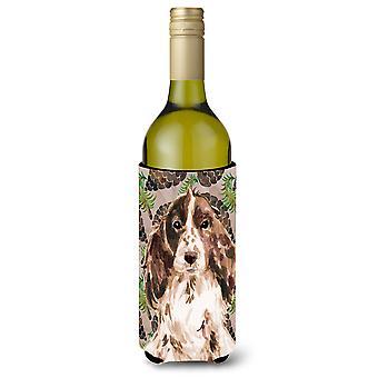 Garrafa de vinho Beverge isolador Hugger Cones de marrom Parti de pinho