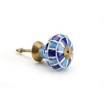 CGB Giftware Light/Dark Blue Mosaic Ceramic Drawer Handle