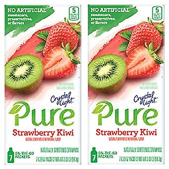 Luce di cristallo puro Kiwi Fragola Drink Mix 2 Box Pack