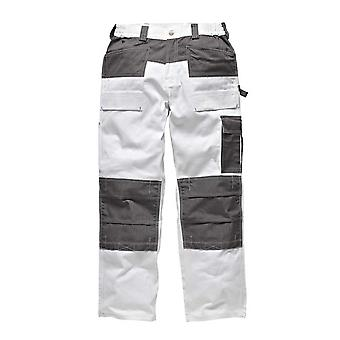 Dickies Mens GDT290 Workwear Trousers White Grey WD4930W