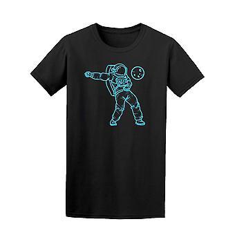 Blå Astronaut dans Tee menn-bilde av Shutterstock