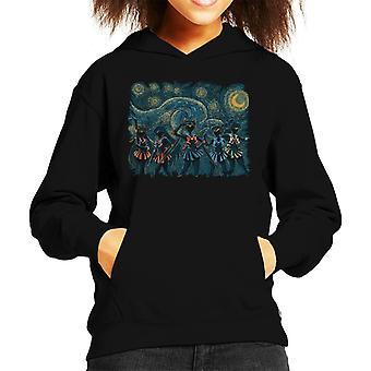 Zeilers nacht sterrenhemel Sailor Moon Kid's Hooded Sweatshirt