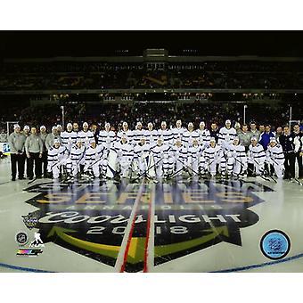 Toronto Maple Leafs Team Sit Down 2018 NHL Stadium Series Photo Print