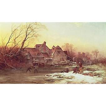 Winter Scene by Philips Wouwermans or.. - Art Print