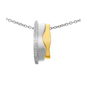 Orphelia Silber 925 Kette mit Anhänger 925 Silber und vergoldet Zirkon ZH-6042/1