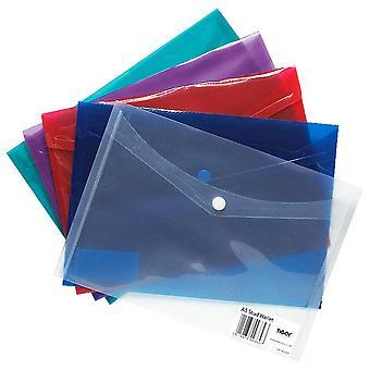 Tiger Stationery Plastic Stud Wallets/Folders