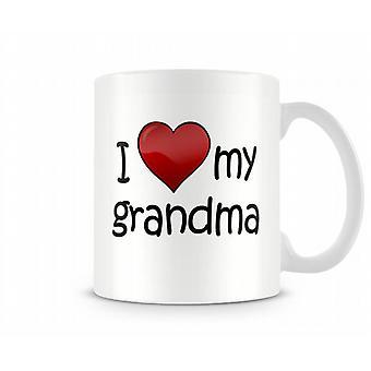 Ik hou van mijn oma bedrukte mok