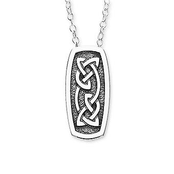 Sterling Silver Scottish Celtic Eternity Knotwork Oxidised Hand Crafted Necklace Pendant - P1114