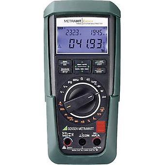 Gossen Metrawatt METRAHIT Energy Handheld multimeter Calibrated to (DAkkS standards) Digital CAT III 600 V, CAT IV 300 V Display (counts): 60000