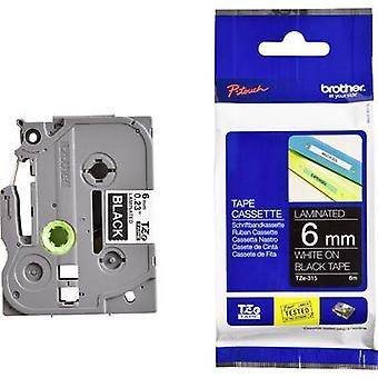 Labelling tape Brother TZe, TZ TZe-315 Tape colour: Black Font colour:White 6 mm 8 m