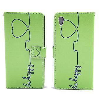 Eloisa asia laukku kännykälle Sony Xperia Z5 olla onnellinen vihreä