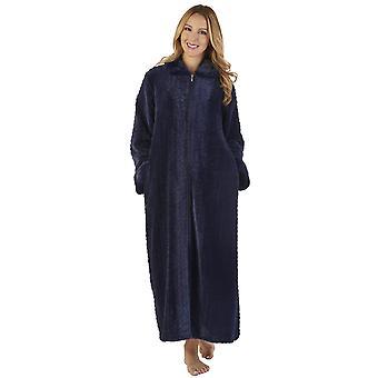 Slenderella HC2342 Women's Faux Collar Robe Loungewear Bath Dressing Gown