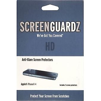 5 Pack -BodyGuardz ScreenGuardz HD Screen Protector with Anti Glare for Apple iPhone 4S/4  (2 Pack)