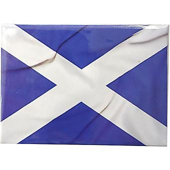 Saltire Flag Magnet by Lyrical Scotland