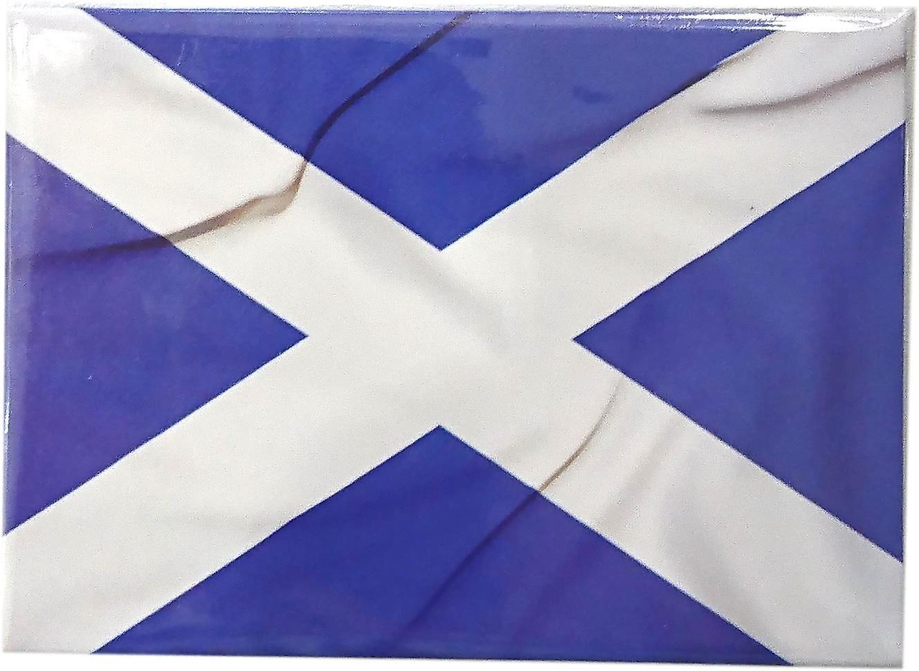 Saltire Flag Magnet by Lyrical Scotland