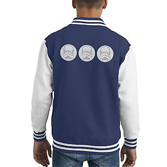 Original Stormtrooper Helm Linie Art Kid Varsity Jacket