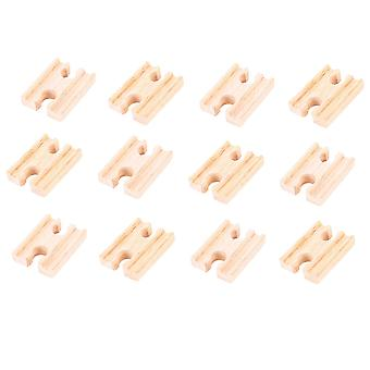 Bigjigs Rail Wooden Mini Track Female/Female (Pack of 12) Expansion Pack