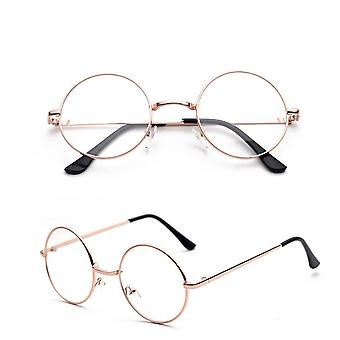 ROUND CLEAR GLASSES COPPER