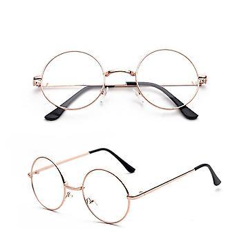 نظارات واضحة جولة النحاس