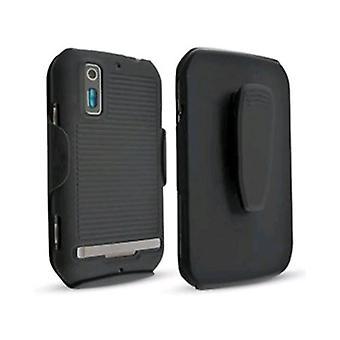 Pack 5 - Technocel escudo y Combo Holster para Motorola Sunfire - negro