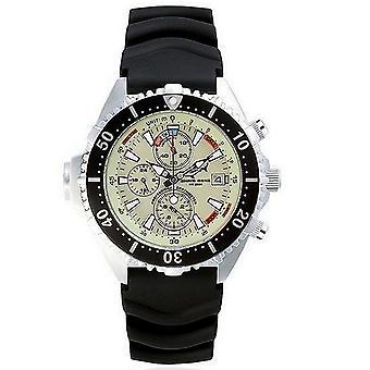 CHRIS BENZ - Diver watch - DEPTHMETER CHRONOGRAPH 200M - CB-C200-N-KBS