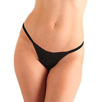 Tied N Teased Women's G String Thong Sexy Black Leather Bondage One Size