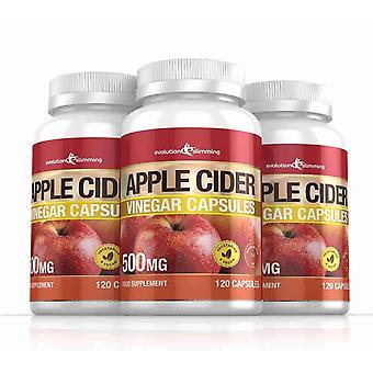 Apple Cider Eddike 500mg kapsler - 360 kapsler - fedtforbrænder - Evolution slankende