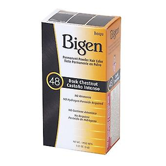 Bigen pysyvä jauhe hiusten väri tumma kastanja (48)