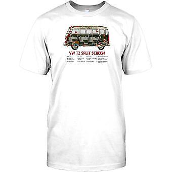 VW T2 delad skärm - Cool Campervan Design Kids T-shirt