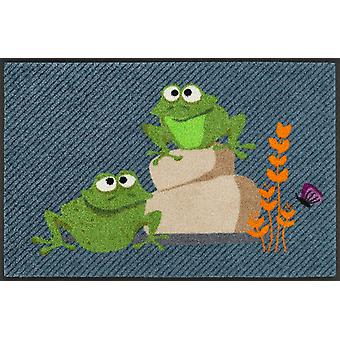 wash + dry mat frogs Egon & Edith 50 x 75 cm funny washable dirt mat