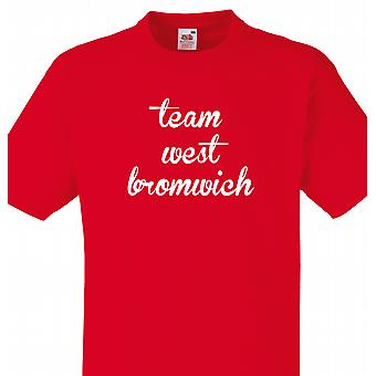 Team West bromwich rød T shirt