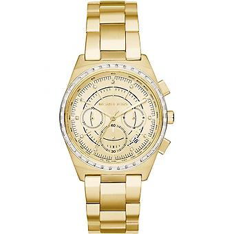 Michael Kors Ladies Womens Chronograph Gold Wrist Watch MK6421