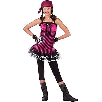 Costume Teen de Pirate Skull rose
