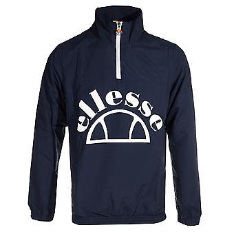 ELLESSE Heritage Junio Over testa 1/4 Zip Jacket Mens Coat Navy Blue