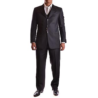 Armani Collezioni Ezbc049100 Men's Grey Wool Suit