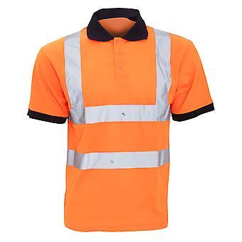Yoko Hi-Vis Short Sleeve Polo Shirt / Mens Workwear (Pack of 2)