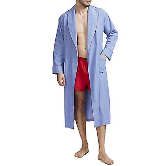British Boxers Burford Blue Stripe Men's Robe