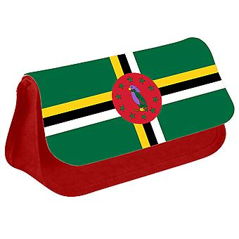 Dominica Flag Printed Design Pencil Case for Stationary/Cosmetic - 0049 (Red) by i-Tronixs