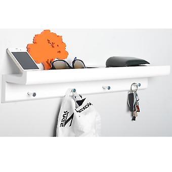 Oakley - wieszaki - biały / ściany montowane 2ft / 60cm Organizator pływających półka z 4 klucz