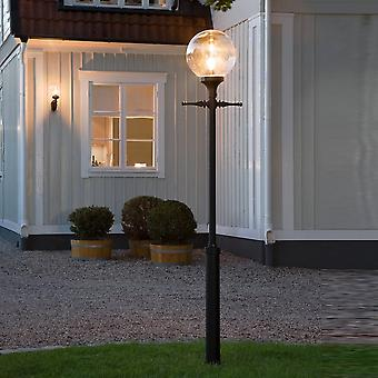 Konstsmide Orion Drive Entry Post Light With Clear Globe Shade