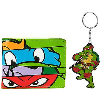 Teenage Mutant Ninja Turtles Bi-Fold Wallet and Keyring Gift Set