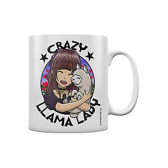 Grindstore Crazy Llama Lady Mug