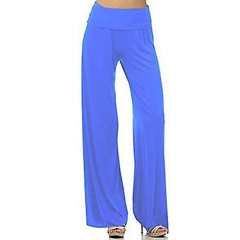 Dbg women's palazzo spandex cotton solid pants
