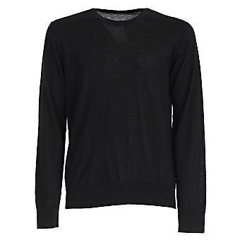 Versace coleção Half Medusa logo camisola de malha preto