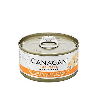 Canagan 75g Pollo con Salmon Cat Wet Food Can - 1 x 75g Lattina