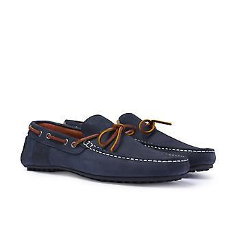 Barbour Dark Blue Eldon Moccasins