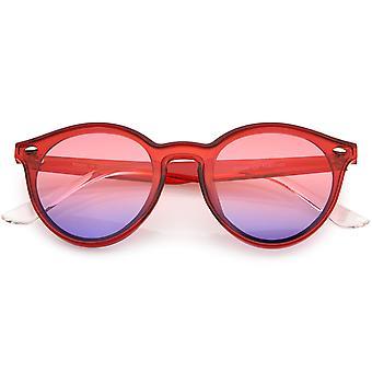 ريترو هورن ريميد جولة النظارات الشمسية جسر ثقب المفتاح 53mm