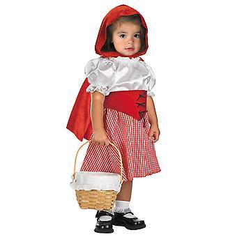 Kırmızı Başlıklı Kız Büyük Kötü Kurt Fairytale Toddler Kız Kostüm 12M-18M