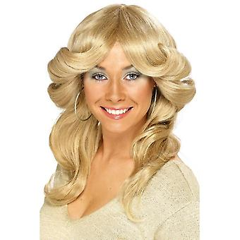 Smiffy's 70S Flick Wig Blonde Long Wavy & Layered 1970's Disco Fancy Dress
